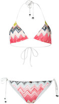 Missoni zig zag bikini - women - Cotton/Nylon/Spandex/Elastane/Rayon - 40