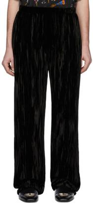 Balenciaga Black Velvet Pyjama Trousers