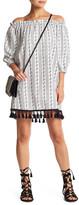 Flying Tomato Off-The-Shoulder Tassel Hem Dress