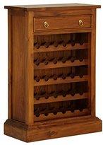 """NES Furniture Solid Mahogany Wood Georgianna Wine Rack, 44"""", Light Pecan"""