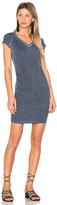 Sundry V-Neck Slub Spandex Dress