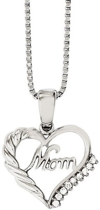 "Steel By Design Stainless Steel Open Heart ""Mom"" Pendant w/ 18""Chain"
