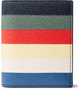 Thom Browne Striped Pebble-grain Leather Bifold Cardholder - Multi