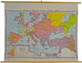 Rejuvenation Mid-Century Denoyer-Geppert European Map c1950s