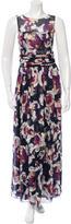 Chanel Printed Silk Sleeveless Dress