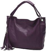 Win8Fong Women's PU Faux Leather Hobo Messenger Crossbody Shoulder Totes Tassels Handbag