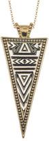 Jessica Simpson Pattern Triangle Pendant Necklace