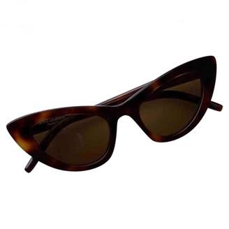 Saint Laurent Lily Brown Plastic Sunglasses