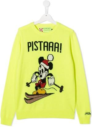 Mc2 Saint Barth Kids Mickey Mouse intarsia jumper
