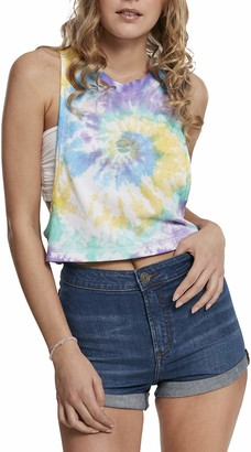 Urban Classics Women's Ladies Short Tie Dye Loose Tank-Top T-Shirt