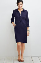J. Jill Live-In Chino Tab-Sleeve Shirtdress