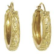 Cathy Waterman Large Dogwood Hoops with Diamonds in 22kt Gold