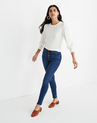 """Madewell 10"""" High-Rise Skinny Jeans in Brinville Wash: Button-Front TENCEL Denim Edition"""