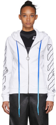 Off-White Off White White Abstract Arrows Zip Hoodie