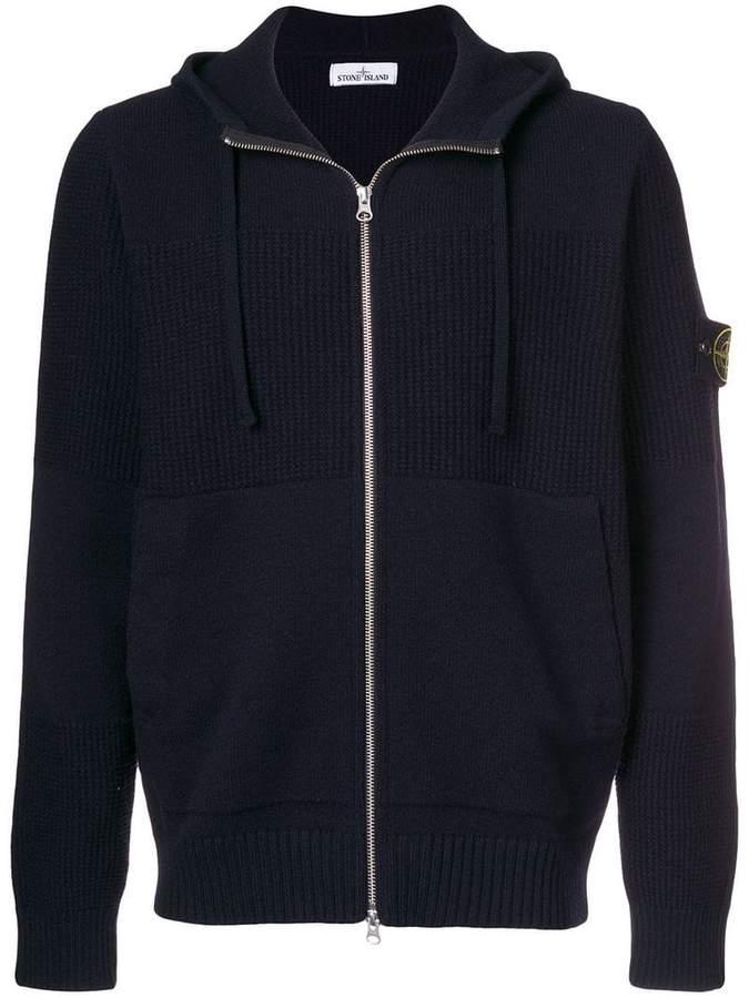 Stone Island zipped hooded sweater