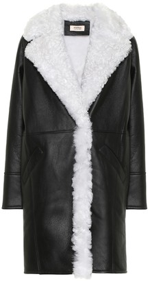 Yves Salomon Meteo leather and shearling coat