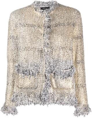 Avant Toi Boucle Tweed Fitted Jacket