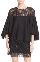 Milly Angie Geo Sequin Silk Swing Top