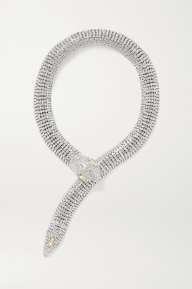 Alessandra Rich Silver-tone Crystal Necklace - one size