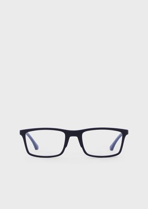Emporio Armani MenS Rectangular Eyeglasses