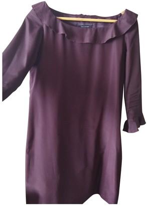 Tara Jarmon Burgundy Silk Dress for Women