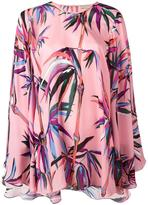 Emilio Pucci leafs print shift blouse - women - Silk - 42