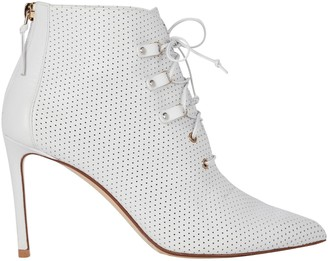 Francesco Russo Perforated Leather Booties