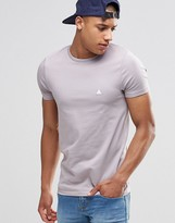 Asos Muscle T-Shirt With Crew Neck And Logo In Pale Lilac