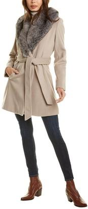 Sofia Cashmere Sofiacashmere Wool-Blend Wrap Coat