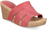 Style&Co. Style & Co Juliaa Slip-On Wedge Sandals, Created for Macy's Women's Shoes
