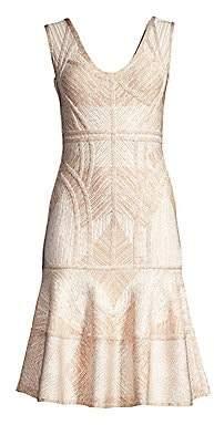 Herve Leger Women's Sleeveless Flounce Bandage Dress
