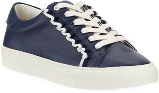 Tory Sport Ruffle Leather Low-Top Sneakers