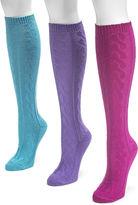 Muk Luks 3-pk. Microfiber Knee High Socks