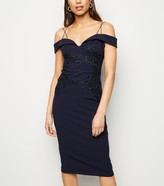 New Look AX Paris Crochet Front Bardot Dress