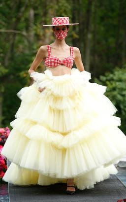 Christian Siriano Tiered Tulle Ball Skirt