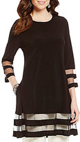IC Collection Sheer Hem Tunic