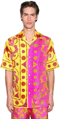 Versace Allover Barocco Pop Print S/s Shirt
