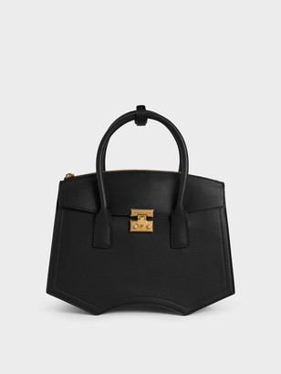 Charles & Keith Double Handle Sculptural Tote Bag