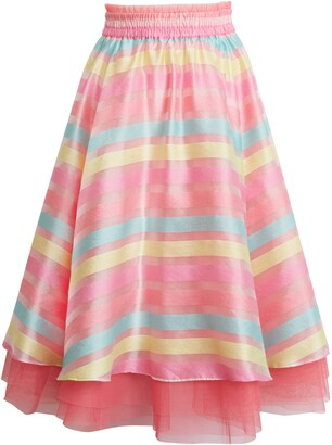 Halogen x Atlantic-Pacific Stripe Organza Skirt