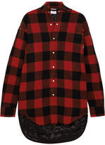 Vetements Plaid Wool-blend Flannel Shirt - Red