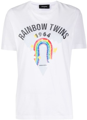 DSQUARED2 rainbow print T-shirt