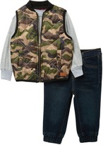 7 For All Mankind Vest, Long Sleeve Tee, & Jeans - 3-Piece Set (Baby Boys)