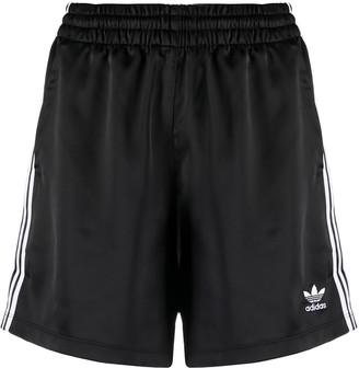 adidas Trefoil Logo-Print Track Shorts