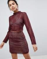 Keepsake Sweet Nothing Crochet Lace Top