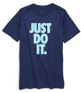 Nike Boy's Just Do It Warpspeed T-Shirt