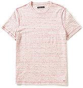 Michael Kors Spacedye Stripe Overlock Short-Sleeve Tee