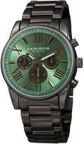 Akribos XXIV Men's Swiss Quartz Multifunction Dual Time Watch, 41mm