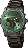 Akribos XXIV Swiss Quartz Multifunction Dual Time Watch, 41mm