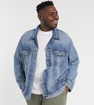 Levi's Big & Tall denim trucker jacket in killebrew light wash