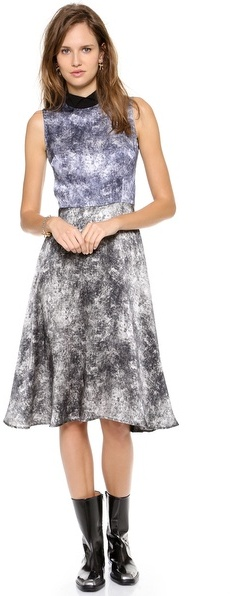 Rodarte Printed Acid Wash Dress